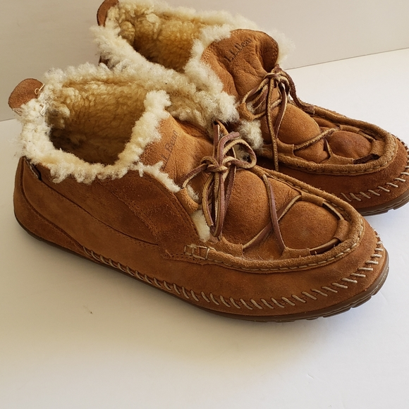 L.L. Bean Wicked Good Lodge Sherling Slippers